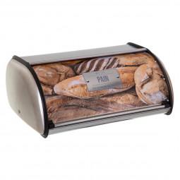 Boite à pain en métal relief 4