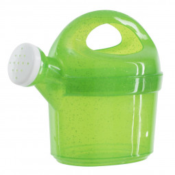 Arrosoir en plastique pailleté translucide