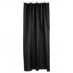 Rideau de douche polyester noir
