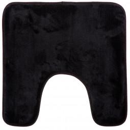 Tapis contour wc mémoire de forme noir 48x48