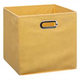 Boîte de rangement  31 x 31 cm jaune