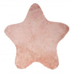 Tapis épais rose forme Etoile pour chambre d'enfant