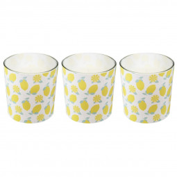 Lot de 3 Bougies citronnelle So Fresh