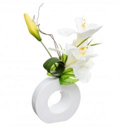 Composition florale en vase H46