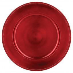 Assiette de présentation ronde Rouge D 33 cm La maison des couleurs