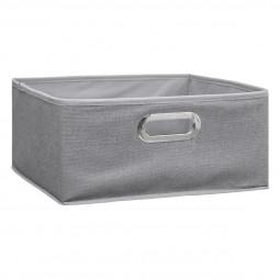 Boîte de rangement  gris clair chiné 31X15