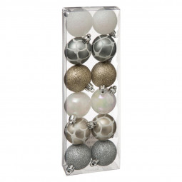Décoration de sapin Lot de 12 Boules de Noël D 4 cm Sublime noël