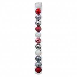 Décoration de sapin Lot de 12 Boules de Noël D 6 cm Comptoir de Noël