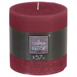 Bougie ronde rustique Bordeaux  D10 x H10