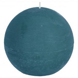 Bougie boule rustique Bleu canard D12