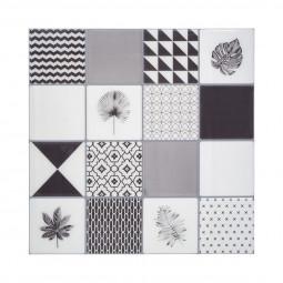 Set de 2 planches Sticker déco à motif NOIR