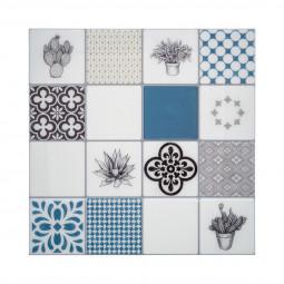 Set de 2 planches Stickers déco à motifs coloris BLEU