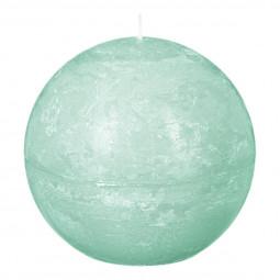 Bougie boule rustique D. 10 cm Vert clair