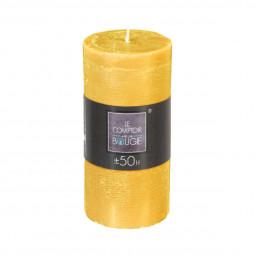 Bougie ronde rustique jaune H14
