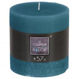 Bougie ronde rustique Bleu canard D10 x H10