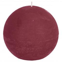 Bougie boule rustique Bordeaux D12