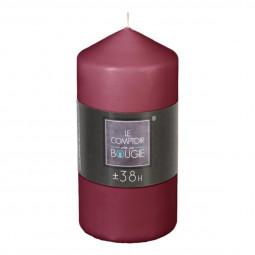 Bougie ronde D. 6,8 x H. 14 cm Bordeaux