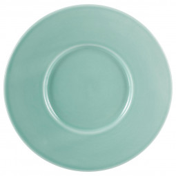 Assiette à dessert torsade turquoise D 25 cm