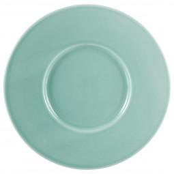 Assiette à dessert torsade turquoise D25