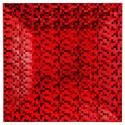 Assiette de présentation carrée effet Pixel Rouge 33 cm La maison des couleurs