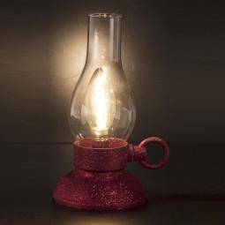 Sujet de Noël lumineux Lanterne rouge à LED  H 20.5 cm