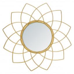Miroir métal doré collection Bohème D 24 cm
