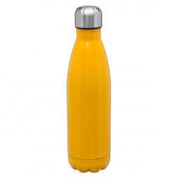 Bouteille isolante jaune 0,5 l rétro colors