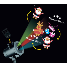 Projecteur extérieur à LED avec 6 films animés interchangeables
