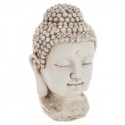 Tête bouddha résine h26