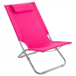 Chaise de plage et de détente Caparica Rose