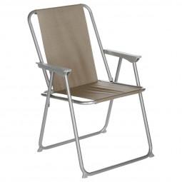 Fauteuil Chaise pliante de camping Grecia Taupe