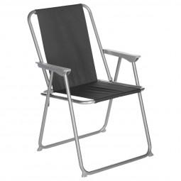 Fauteuil Chaise pliante de camping Grecia Noir