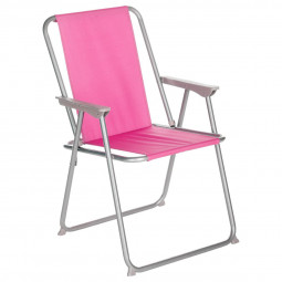 Fauteuil Chaise pliante de camping Grecia Framboise