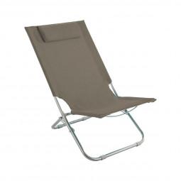 Chaise de plage et de détente Caparica Taupe