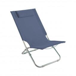 Chaise de plage et de détente Caparica Bleu orage
