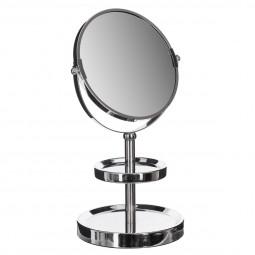 Miroir de salle de bain 2 socles 1 face normal 1 face x3